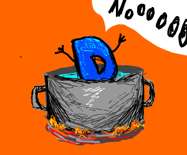 Drawception D getting cooked