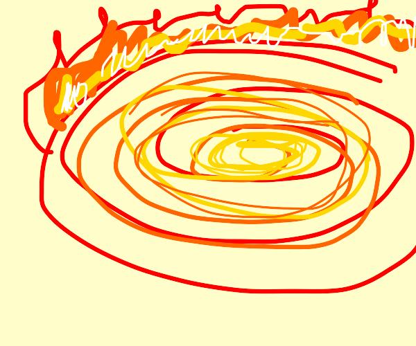 Swirling fiery vortex
