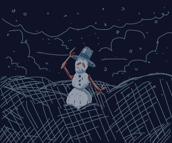Majestic snowman