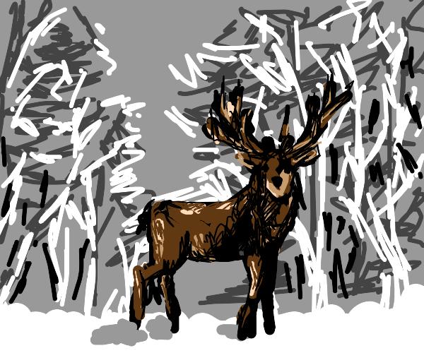 The God of Deer lives on a glacier