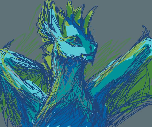 A beautiful female dragon.