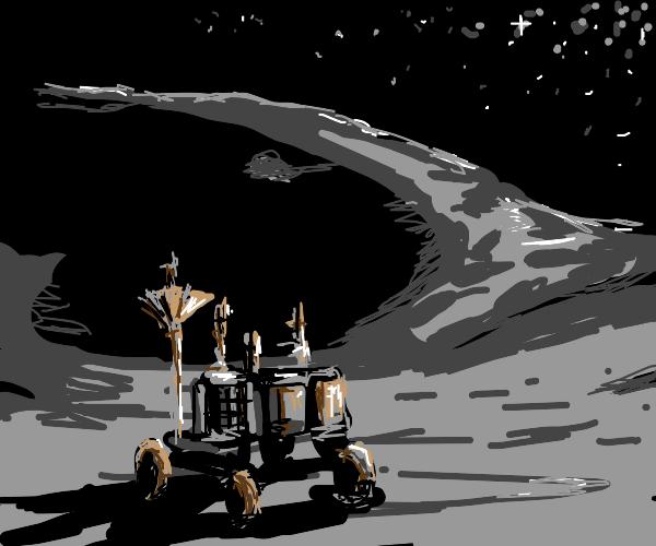 robot on moon
