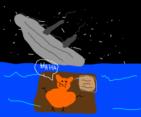 Garfield did the sinking of the titanic