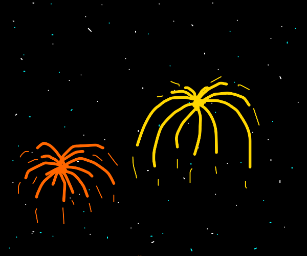 Fireworks in space