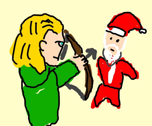 Christmas Legolas VS Santa