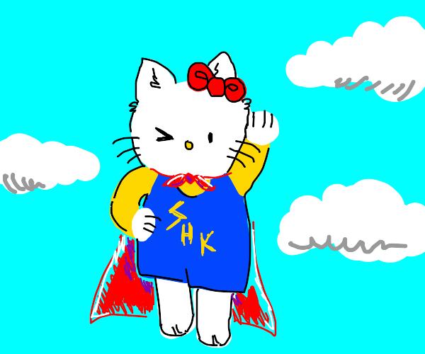 hello kitty is superhero