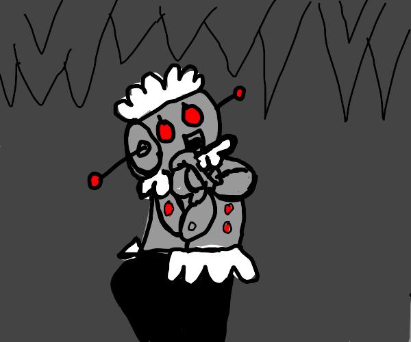 Robot maid explores cave