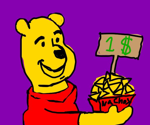Pooh buying $1.00 nachos