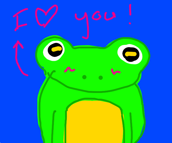 Positivity frog loves you