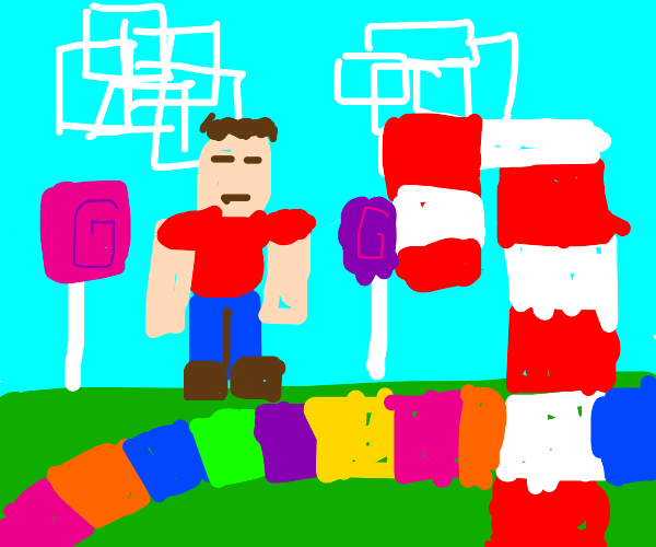 Candy Land But Minecraft