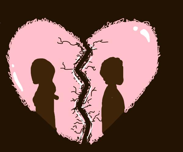 Broken heart breakup