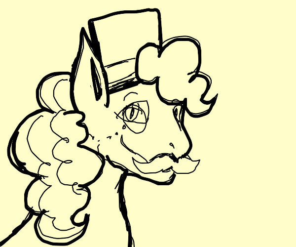 MLP character wearing a monocle