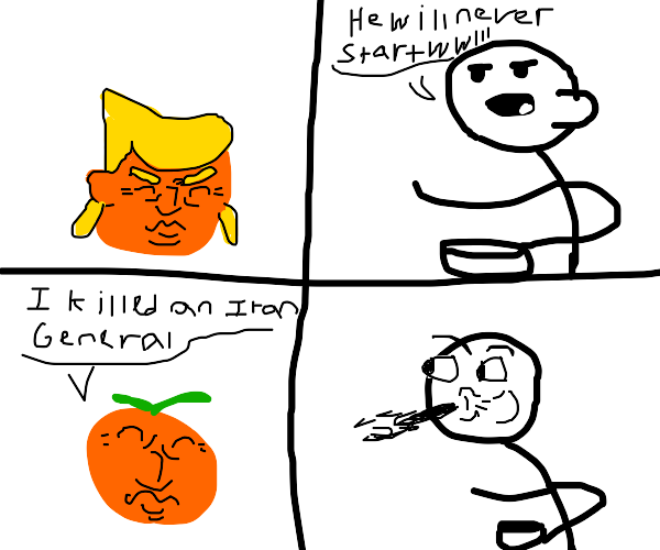 trump the orange starts wwIII