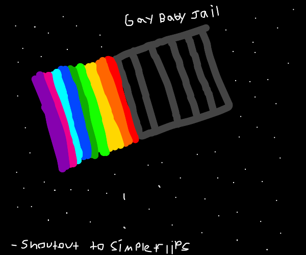 Rainbow pushes jail cell into space