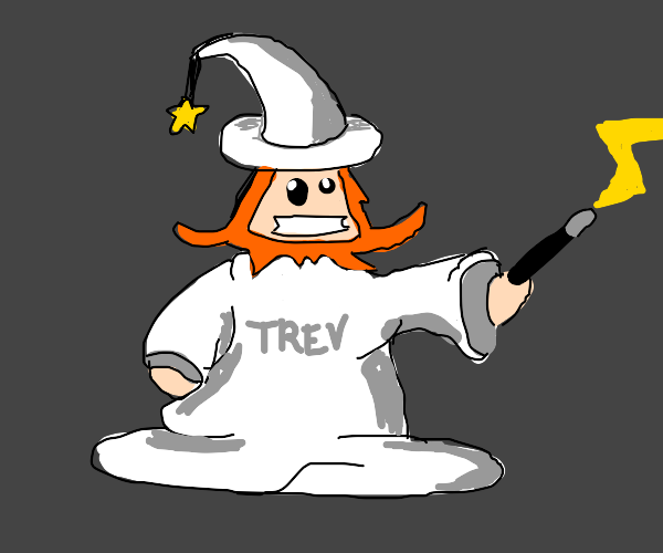 white wizard w/ginger beard named Trev