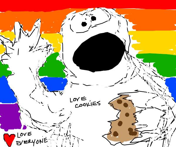 Cookie Monster supports  LGBTQ+!