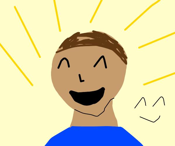 Bosnian kid is happy