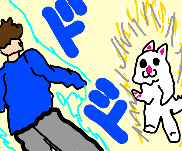 artist is sad to learn his cat watches jojo