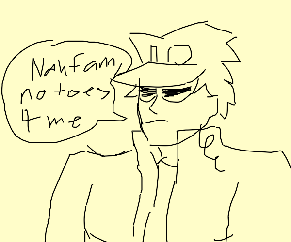 Jotaro doesn't want to buy something