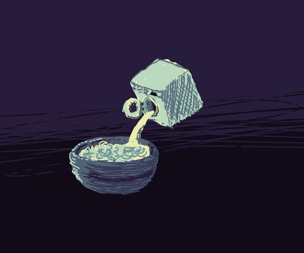 Washing machine as a milk box