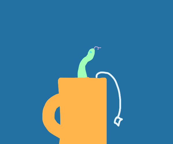 Snake in a mug of tea