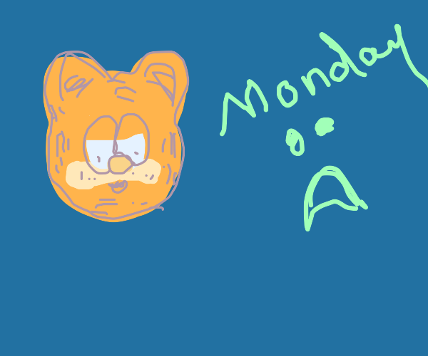 Orange cat dislikes first day of the week