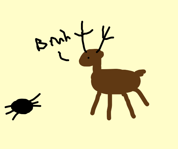 Rendered speechless by a spider