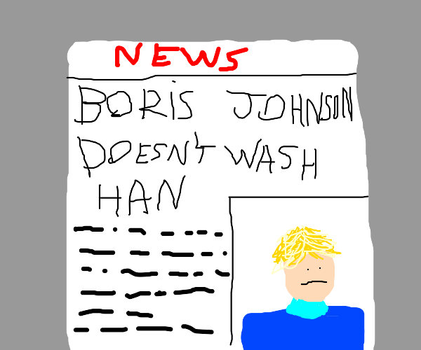 Breaking News: Boris Johnson Doesnt Wash Hand