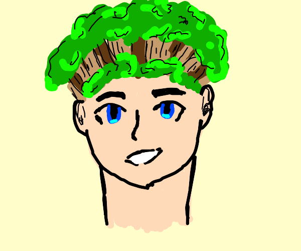 Person with forest as hair
