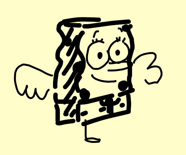 Spongebob but duck legs and duck wings