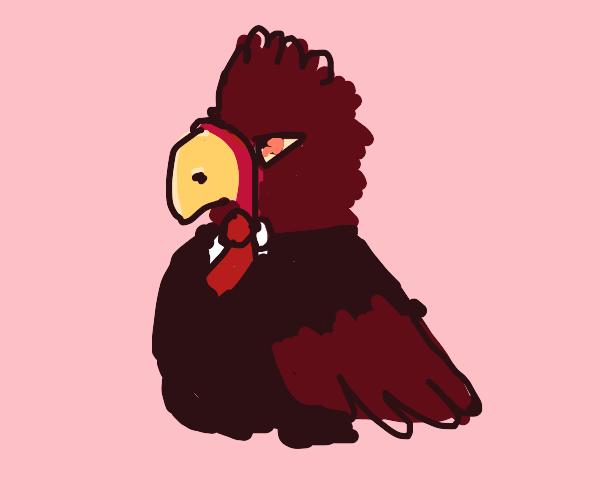 president turkey with a bow tie