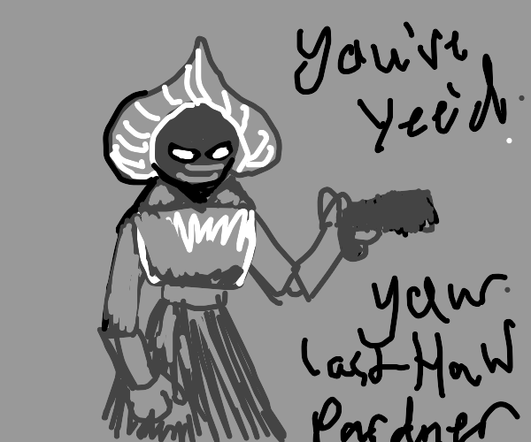 Flatwoods monster but with a gun