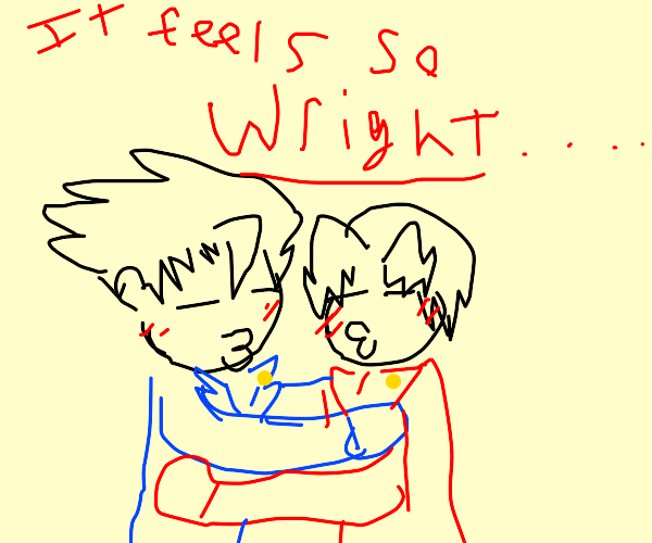 Phoenix Wright and Edgeworth are in love