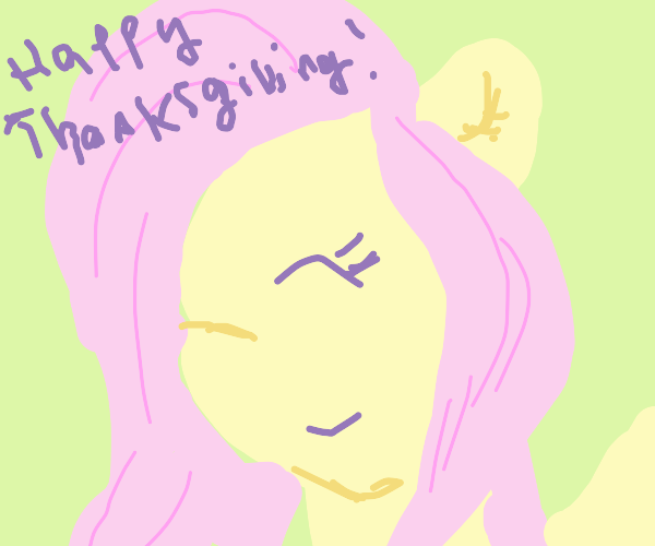 Fluttershy wishes you a happy Thanksgiving