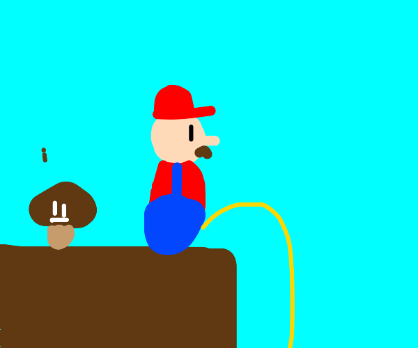 The prequel to Mario Pissing