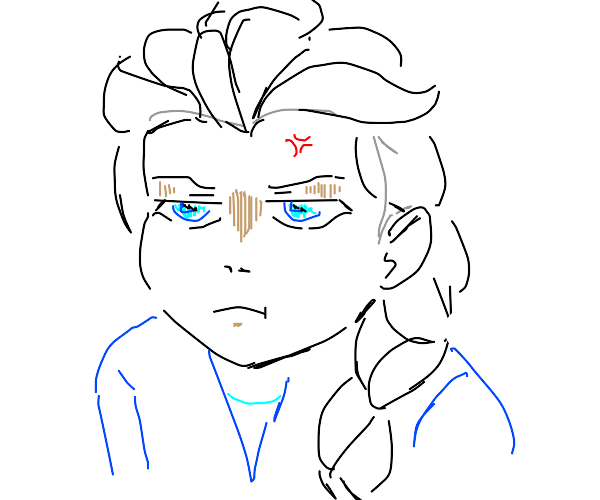 Elsa is annoyed