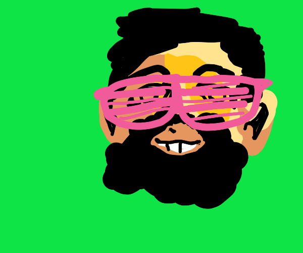 Bearded guy has cool vibes