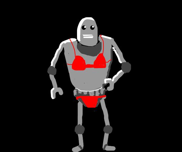 robot in a bikini