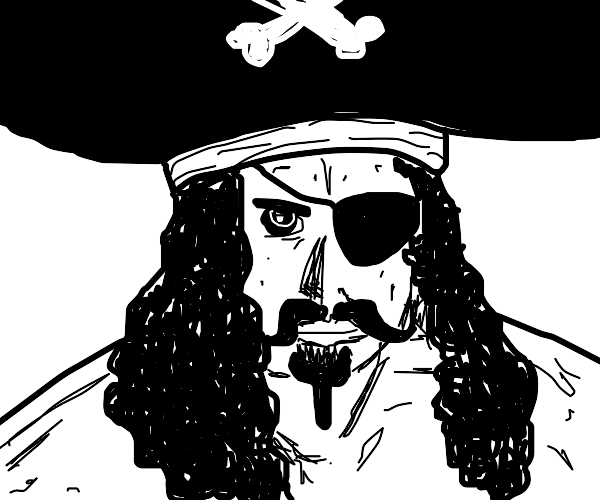 snazzy pirate with eyepatch