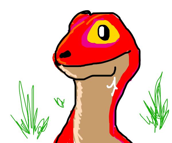 A cute velociraptor