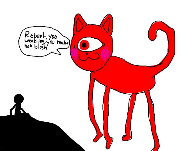 blushing cat