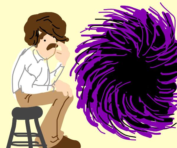 70s Man Studies Black & Purple Vortex