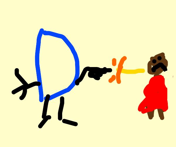 Drawception shoots armless child