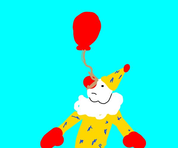 clown hanged by nose