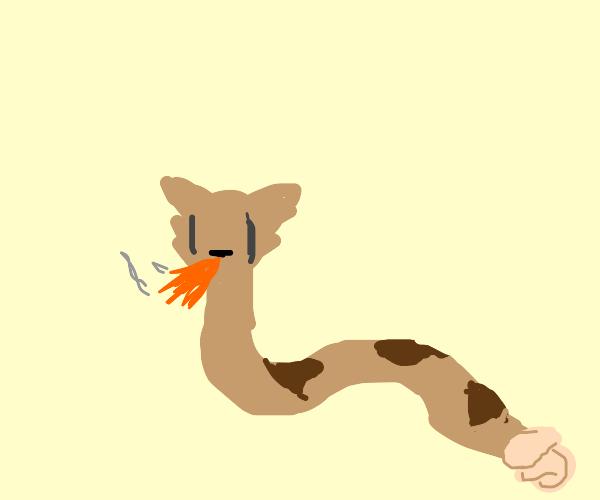 Pretty Kitty Lizard Breathes Fire