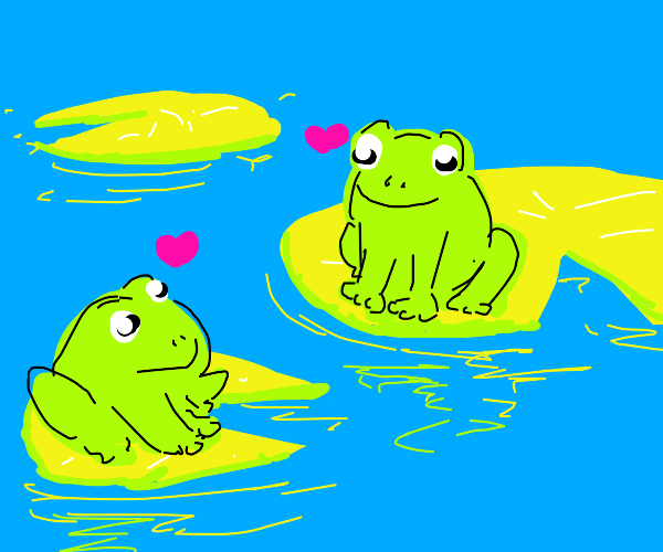 Two frogs are in love
