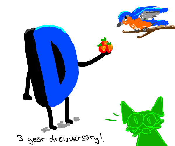 Celebrate Drawception's anniversary with bird
