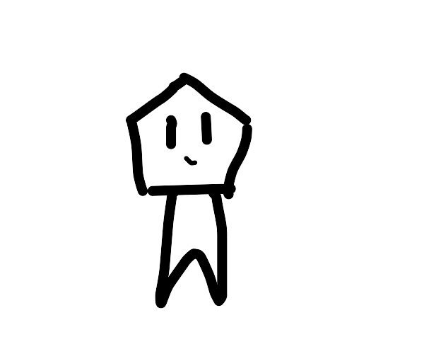 Armless guy with pentagon shaped head