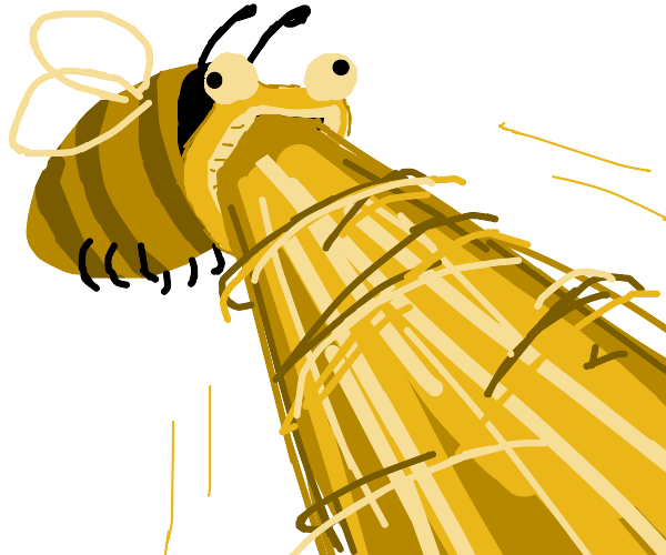 bee with mouth beam meme from like, 2012