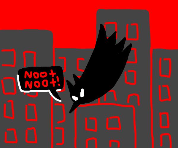 penguin (batman) falling